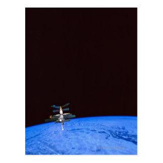 Cartão Postal Terra de órbita 8 da estação espacial