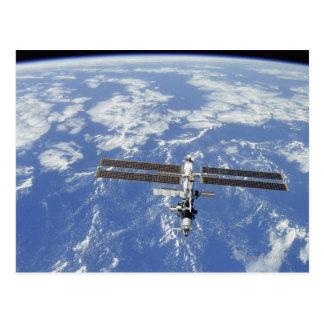 Cartão Postal Terra de órbita da estação espacial internacional