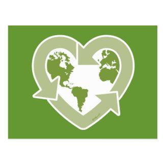 Cartão Postal Terra do amor: Reciclar!