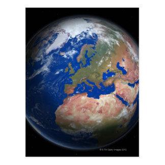 Cartão Postal Terra do planeta