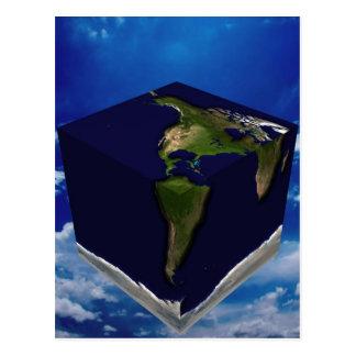 Cartão Postal Terra quadrada