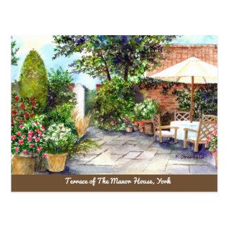 Cartão Postal Terraço da casa senhorial, York