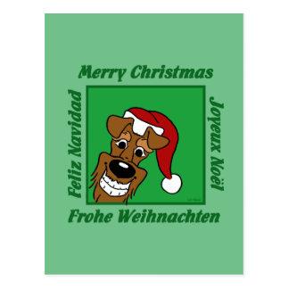 Cartão Postal Terrier irlandesa Weihnacht