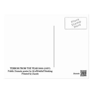 Cartão Postal TERROR do poster do ANO 5000