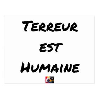 Cartão Postal TERROR LESTE HUMANO - Jogos de palavras François