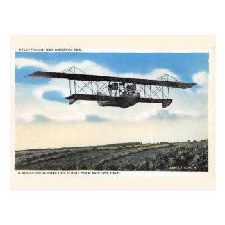 Cartão Postal Teste do avião do campo da aviação dos campos de