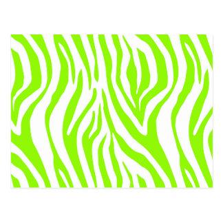 Cartão Postal Teste padrão animal do impressão da zebra
