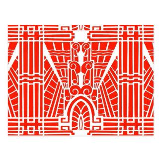 Cartão Postal Teste padrão arquitectónico de Deco, tanjerina