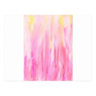 Cartão Postal Teste padrão cor-de-rosa abstrato da listra da