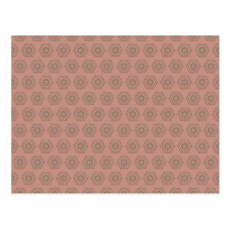 Cartão Postal Teste padrão cor-de-rosa do polígono