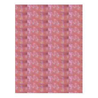 Cartão Postal Teste padrão cor-de-rosa MACIO do gráfico do Weave