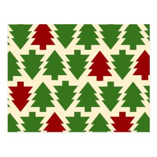 Cartão Postal Teste padrão da árvore de Natal