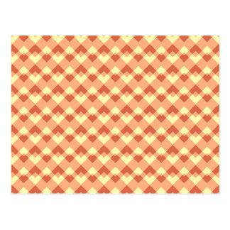Cartão Postal Teste padrão da cor do Terracotta