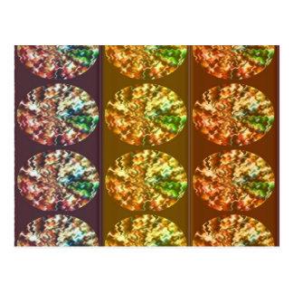 Cartão Postal Teste padrão da energia da decoração dos diamantes