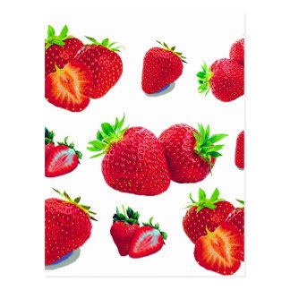 Cartão Postal Teste padrão da fruta da morango