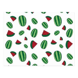 Cartão Postal Teste padrão da melancia