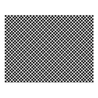 Cartão Postal Teste padrão de bolinhas preto minúsculo
