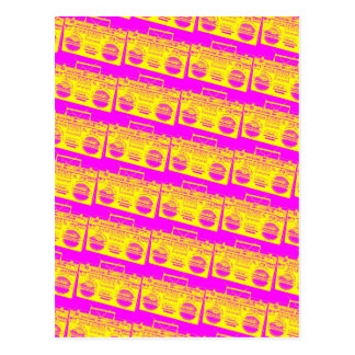 Cartão Postal Teste padrão de Boombox
