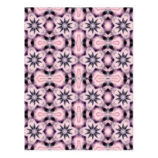 Cartão Postal teste padrão de flor cor-de-rosa