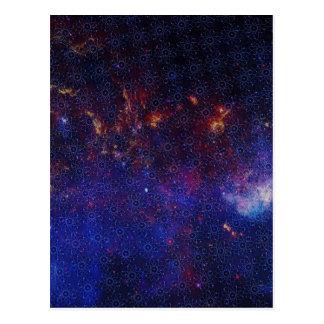 Cartão Postal Teste padrão do átomo