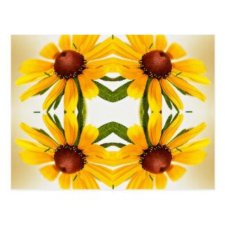 Cartão Postal Teste padrão do caleidoscópio de Susan de olhos