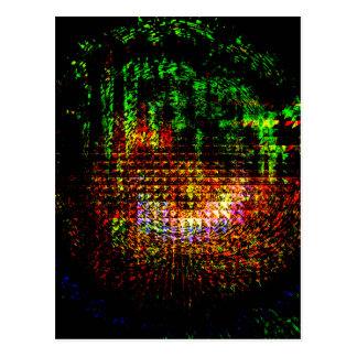 Cartão Postal teste padrão do caleidoscópio do radar