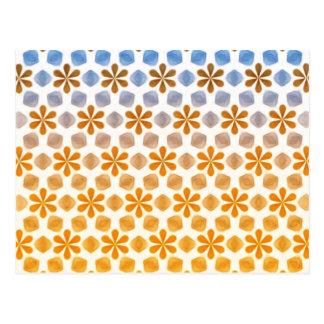 Cartão Postal Teste padrão do campo de flor do verão