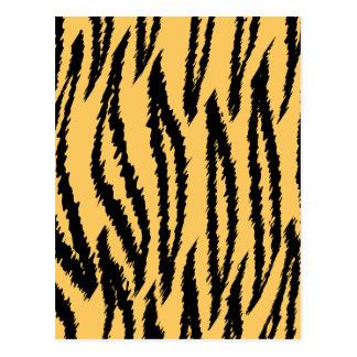 Cartão Postal Teste padrão do impressão do tigre. Laranja e
