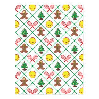 Cartão Postal Teste padrão do Natal do tênis