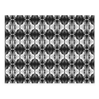 Cartão Postal Teste padrão do papel de parede do art deco -