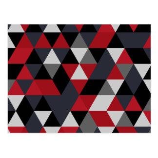 Cartão Postal Teste padrão do polígono de Minimalistic (prisma)