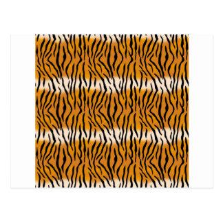 Cartão Postal Teste padrão do tigre