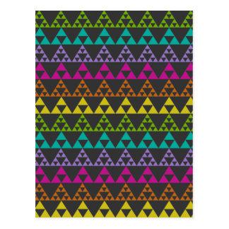 Cartão Postal Teste padrão do triângulo