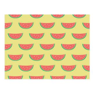 Cartão Postal teste padrão do verão da melancia