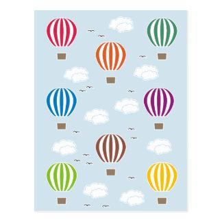 Cartão Postal Teste padrão dos balões de ar
