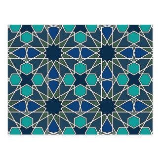 Cartão Postal Teste padrão geométrico 0-0-7 de Ben Yusuf Madrasa