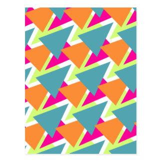 Cartão Postal teste padrão geométrico de néon do anos 80