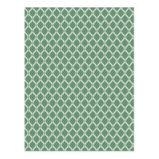 Cartão Postal Teste padrão geométrico verde
