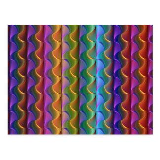 Cartão Postal Teste padrão psicadélico colorido brilhante
