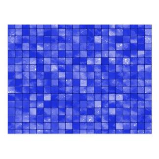 Cartão Postal Teste padrão Variegated do azulejo dos azuis