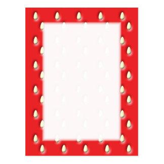 Cartão Postal Teste padrão vermelho da morango