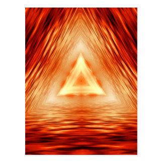 Cartão Postal Teste padrão vermelho do triângulo