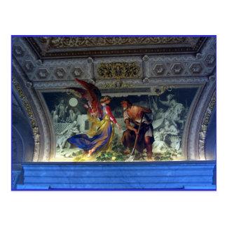 Cartão Postal Teto no museu do vaticano em Roma