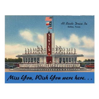 Cartão Postal Texas, movimentação de Sivils dentro, Dallas