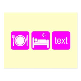 Cartão Postal Texting engraçado