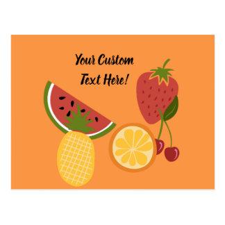 Cartão Postal Texto do costume da fruta