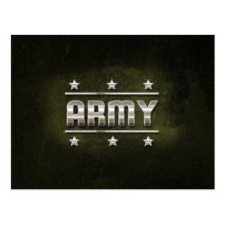 Cartão Postal Texto do exército do metal