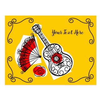 Cartão Postal Texto espanhol dos cantos das lembranças