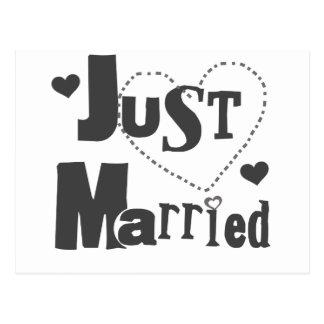 Cartão Postal Texto preto com recem casados do coração