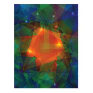 Cartão Postal textura abstrata